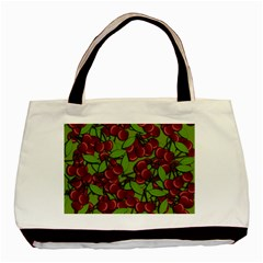Cherry Jammy Pattern Basic Tote Bag by Valentinaart