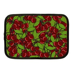 Cherry Jammy Pattern Netbook Case (medium)  by Valentinaart