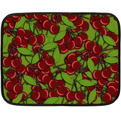 Cherry Jammy Pattern Fleece Blanket (mini) by Valentinaart
