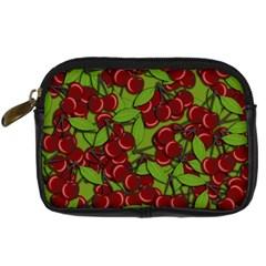 Cherry Jammy Pattern Digital Camera Cases by Valentinaart