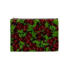 Cherry Jammy Pattern Cosmetic Bag (medium)  by Valentinaart