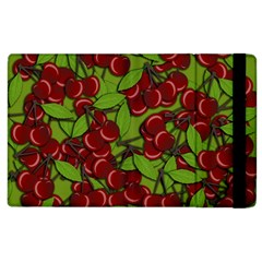 Cherry Jammy Pattern Apple Ipad 2 Flip Case by Valentinaart