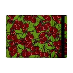 Cherry jammy pattern Apple iPad Mini Flip Case by Valentinaart
