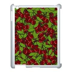 Cherry Jammy Pattern Apple Ipad 3/4 Case (white) by Valentinaart