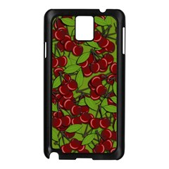 Cherry Jammy Pattern Samsung Galaxy Note 3 N9005 Case (black) by Valentinaart