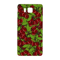 Cherry Jammy Pattern Samsung Galaxy Alpha Hardshell Back Case by Valentinaart