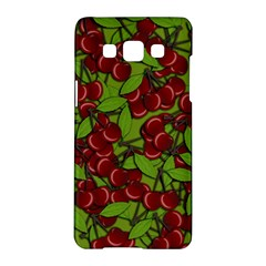 Cherry Jammy Pattern Samsung Galaxy A5 Hardshell Case  by Valentinaart