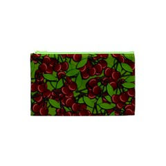 Cherry Jammy Pattern Cosmetic Bag (xs) by Valentinaart