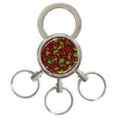 Cherry Pattern 3 Ring Key Chains by Valentinaart