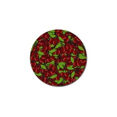 Cherry Pattern Golf Ball Marker (10 Pack) by Valentinaart
