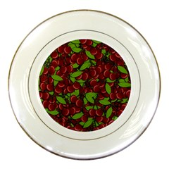 Cherry Pattern Porcelain Plates by Valentinaart