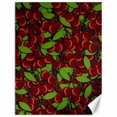 Cherry Pattern Canvas 12  X 16   by Valentinaart