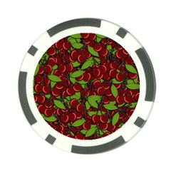 Cherry Pattern Poker Chip Card Guard by Valentinaart