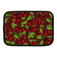 Cherry Pattern Netbook Case (medium)  by Valentinaart