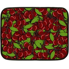 Cherry Pattern Double Sided Fleece Blanket (mini)  by Valentinaart