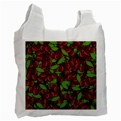 Cherry Pattern Recycle Bag (two Side)  by Valentinaart