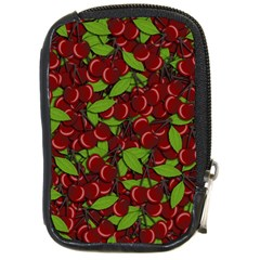 Cherry Pattern Compact Camera Cases by Valentinaart