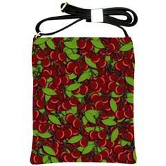 Cherry Pattern Shoulder Sling Bags by Valentinaart