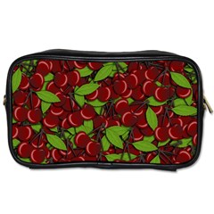 Cherry Pattern Toiletries Bags 2 Side by Valentinaart