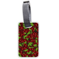 Cherry Pattern Luggage Tags (one Side)  by Valentinaart