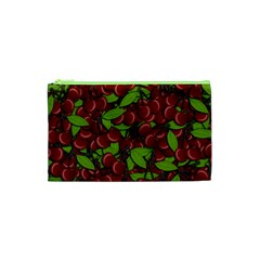 Cherry Pattern Cosmetic Bag (xs) by Valentinaart