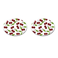 Cherry Pattern Cufflinks (oval) by Valentinaart