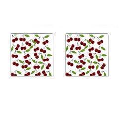Cherry Pattern Cufflinks (square) by Valentinaart