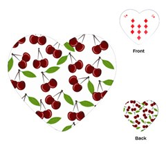 Cherry Pattern Playing Cards (heart)  by Valentinaart