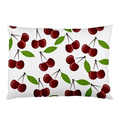 Cherry Pattern Pillow Case by Valentinaart