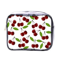 Cherry Pattern Mini Toiletries Bags by Valentinaart