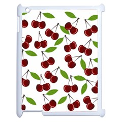 Cherry Pattern Apple Ipad 2 Case (white) by Valentinaart