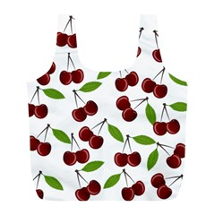 Cherry Pattern Full Print Recycle Bags (l)  by Valentinaart