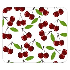 Cherry Pattern Double Sided Flano Blanket (small)  by Valentinaart