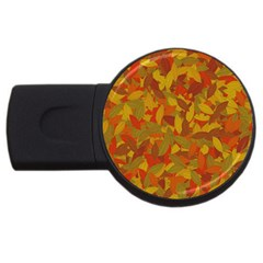 Orange Autumn Usb Flash Drive Round (4 Gb) by Valentinaart