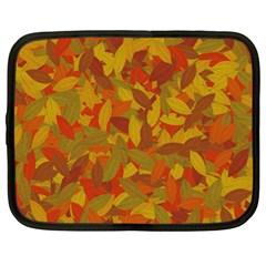Orange Autumn Netbook Case (xl)  by Valentinaart