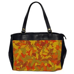 Orange Autumn Office Handbags (2 Sides)  by Valentinaart