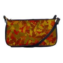 Orange Autumn Shoulder Clutch Bags by Valentinaart