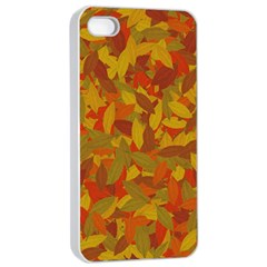 Orange Autumn Apple Iphone 4/4s Seamless Case (white) by Valentinaart