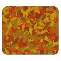 Orange Autumn Double Sided Flano Blanket (small)  by Valentinaart