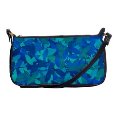 Blue Autumn Shoulder Clutch Bags by Valentinaart