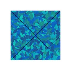 Blue Autumn Acrylic Tangram Puzzle (4  X 4 ) by Valentinaart