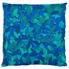 Blue Autumn Large Flano Cushion Case (one Side) by Valentinaart