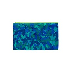 Blue Autumn Cosmetic Bag (xs) by Valentinaart