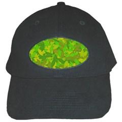 Green Autumn Black Cap by Valentinaart