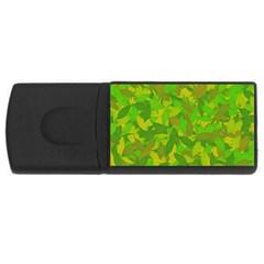 Green Autumn Usb Flash Drive Rectangular (4 Gb) by Valentinaart