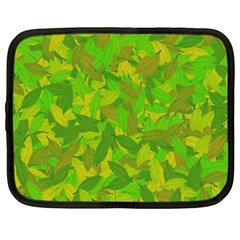 Green Autumn Netbook Case (xxl)  by Valentinaart