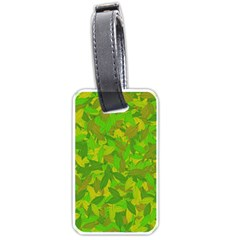 Green Autumn Luggage Tags (one Side)  by Valentinaart