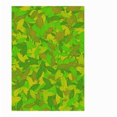 Green Autumn Small Garden Flag (two Sides) by Valentinaart