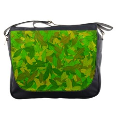 Green Autumn Messenger Bags by Valentinaart