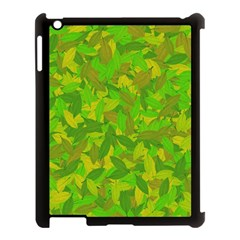 Green Autumn Apple Ipad 3/4 Case (black) by Valentinaart